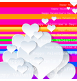 Heart Valentines Day background or card art vector image