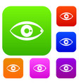 human eye set collection vector image vector image
