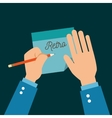 Human hands writing icon vector image