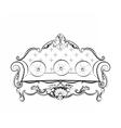 Imperial Royal Sofa vector image vector image
