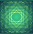 infinite polygonal tunnel of shining vector image vector image