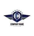letter c shield logo vector image vector image