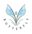 logo blue wings develop vector image