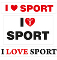 LoveSport vector image