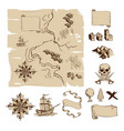 make your own fantasy or treasure maps vector image vector image