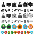 money and finance flat icons in set collection for vector image