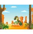 Mother tyrannosaurus with baby hatching vector image vector image