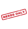Nerds Only Rubber Stamp vector image vector image