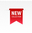 new collection label tag fabric design vector image