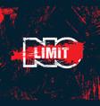 no limit creative inspiring motivation quote vector image