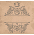 old cardboard paper texture with royal frame vector image vector image