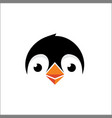 penguin logo design head vector image