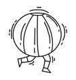 playground kids bumper ball vector image