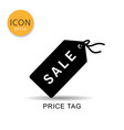 price tag icon isolated flat style vector image vector image