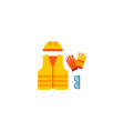 protective costume icon flat element vector image