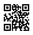qr code the black color icon vector image