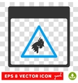 Rooster Danger Calendar Page Eps Icon vector image vector image
