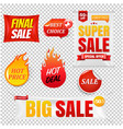 sale banners big isolated transparent vector image vector image