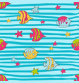 seamless summer pattern with color tropical vector image vector image