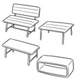 set bench vector image