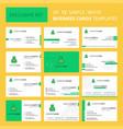 set of 12 money bag creative busienss card vector image vector image
