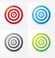 set of colored targets isolated on a white vector image