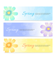 Set of spring banner background vector image vector image