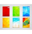 set polygonal covers vector image