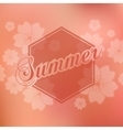 Stylish Summer seasonal card design vector image vector image