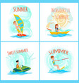 sweet wonderful summer color vector image vector image