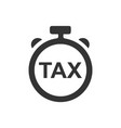 tax refund time icon vector image vector image