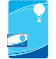 template design with balloon vector image vector image