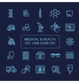 Thin lines web icon set - Medicine and Health vector image vector image