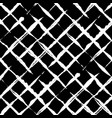trendy handdrawn checkered seamless pattern vector image vector image