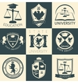 University Heraldry Vintage Stickers vector image