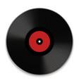 vintage dj music vynil disk round icon retro vector image