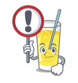 with sign lemonade character cartoon style vector image vector image