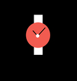 wristwatch red with white strap vector image