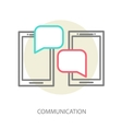 Chat application template vector image