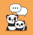 cute panda animal cartoon vector image