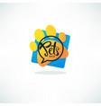 pets shop logo image of vibrnt blue speech vector image