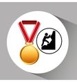 rock climbing medal sport extreme graphic vector image