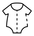 baby new clothes icon outline style vector image
