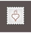 Beet stamp Outline vector image vector image