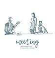 brainstorming business meeting teamwork vector image vector image