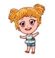 cartoon girl in anime style little child vector image