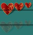 cartoon of happy valentines day card typography vector image vector image