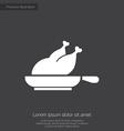 chicken grill premium icon vector image