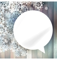 Christmas bubbles for speech vector image vector image