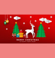 christmas new year papercut holiday toy landscape vector image vector image